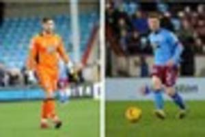 scunthorpe united pair agree on moves to chesterfield