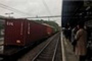 greater anglia delays expected after broken down freight train at...