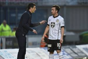 st mirren boss jack ross salutes departing midfield ace stevie mallan