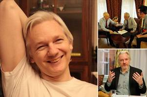 WikiLeaks founder Julian Assange pictured smiling as he's set to be a 'free man' after prosecutors drop rape probe