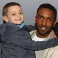 Jermain Defoe joins terminally ill fan Bradley Lowery at sixth birthday party