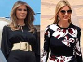 Melania Trump skips headscarf as she arrives in Riyadh