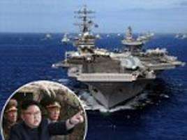 uss ronald reagan moves to the korean peninsula