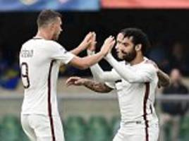 Chievo 3-5 Roma: Spalletti's men keep pressure on Juventus