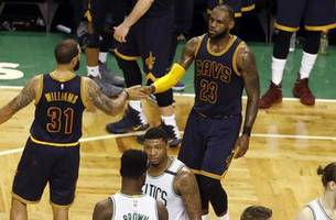 LeBron James and the Cavs are using the Celtics to send a message to the Warriors