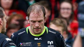 time for 'learning' over - ospreys captain alun wyn jones