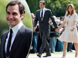 federer attends pippa middleton and james matthews wedding