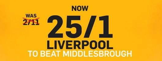 Liverpool v Middlesbrough: 25/1 enhanced odds, prediction and betting tips