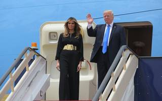Trump lands in Saudi Arabia for first foreign trip amid turmoil in the US