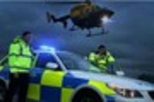 This is why the police helicopter was flying over Plymouth late...
