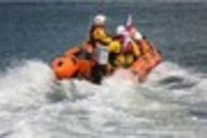 watch as rnli lifeboat races from fundraiser to real-life rescue!