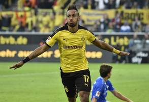 Aubameyang fires Dortmund into Champions League