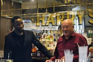 celtic striker moussa dembele in uddingston to open new harry's bar at angels hotel