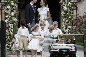 pippa middleton's wedding in full: the 40k dress, the celebrity guestlist, kate and a cheeky pageboy