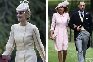 see what everyone wore to pippa middleton's wedding - from mum carole in pink to kate in alexander mcqueen