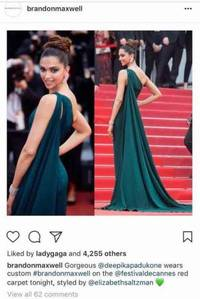 Lady Gaga Gives Deepika Padukone A Thumbs Up For Her Style At Cannes!