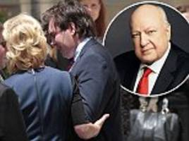 roger ailes' emotional teen son lashes out during eulogy
