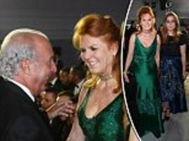 sir philip green, fergie and princess beatrice at cannes