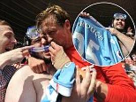 peter crouch honours speedos bargain with stoke fan