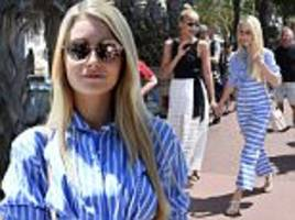lottie moss goes for nautical chic in cannes