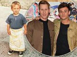 tom daley's husband dustin lance black shares cute snap