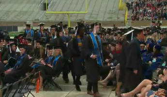 Dozens Of Notre Dame Graduates Walk Out During Mike Pence Commencement Speech