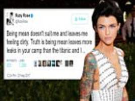 Ruby Rose felt 'dirty' taking shots at Katy Perry song