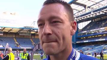 chelsea 5-1 sunderland: john terry 'very sad and emotional'