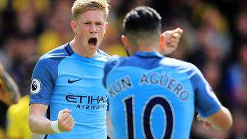 Man City put five past Watford to secure third