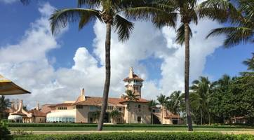 sinkhole opens in front of mar-a-lago, jokes pour in