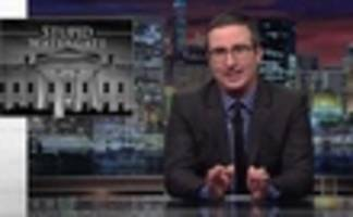 john oliver dives deep into trump's 'stupid watergate'