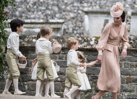 Prince George Gets Scolded by Kate Middleton After Stepping on Pippa Middleton's Wedding Dress