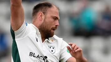 Derbyshire v Worcestershire: Joe Leach takes nine wickets in match to inspire victory