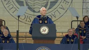 Notre Dame Students Walk Out On Pence's Graduation Speech