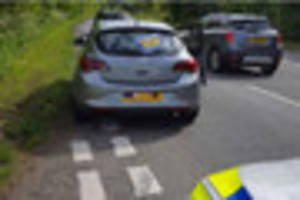 Motorist with provisional licence and no insurance has car seized...