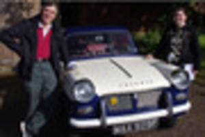 father and daughter complete 1800 mile journey in triumph herald...