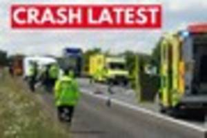 Serious head-on crash between transit van and HGV lorry: A361...