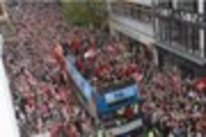 Parade routes announced for Exeter Chiefs and Exeter City in the...