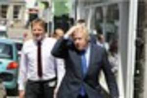 Watch Boris Johnson and Derek Thomas confronted by angry heckler...