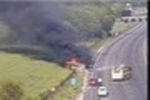 Live updates as long delays on the M25 in Kent after car fire