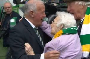 celtic fan doubles club's magic number as she celebrates 100th birthday on pitch