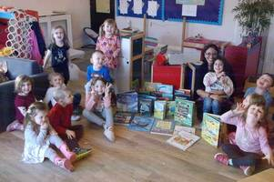 Hamilton nursery kids thrilled to receive book donations