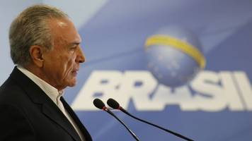 brazil president retreats from attempts to suspend investigation