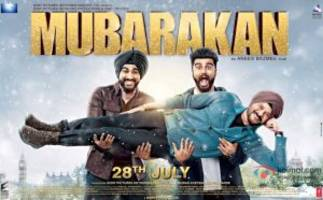 1st look poster of mubarakan: arjun's double role with anil kapoor look interestingly funny!