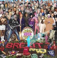 beatles' sgt. pepper's album cover reworked with famous faces who died in 2016