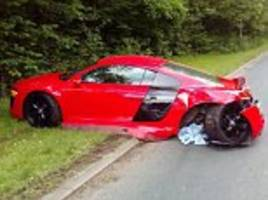 driver of £120,000 audi r8 spins out of control in preston