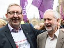 trade union bosses give corbyn £4m in five months