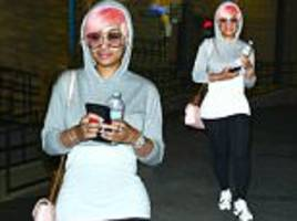 Blac Chyna shows off her TINY post-baby waist in Glendale