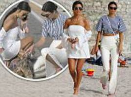 Kendall Jenner flashes her abs in Cannes