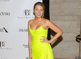 Blake Lively Nearly Spills Out of Her Stunning Neon Gown at the Ballet